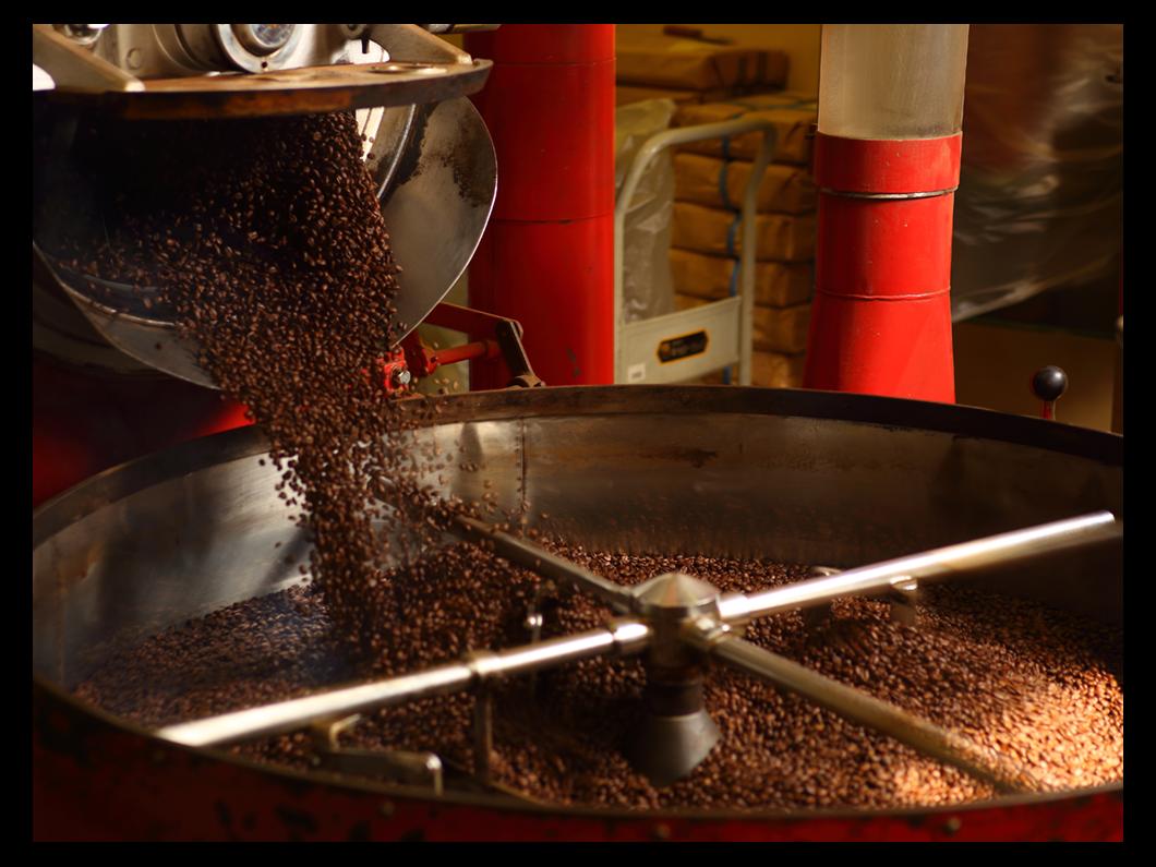 可否茶館 小樽工場 焙煎機